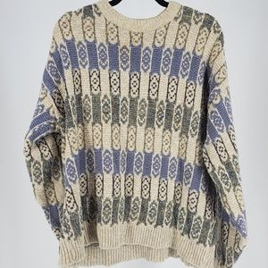 Vintage Chunky Cable Knit Sweater sz large